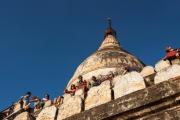 op de uitkijk vd Shwe San Daw Pagode